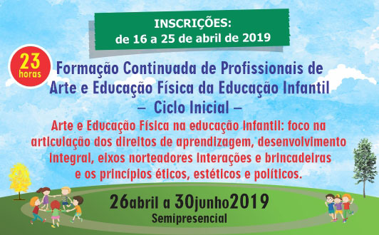 Formação Continuada de Profissionais de Arte e Educação Física da Educação Infantil –  Ciclo Inicial